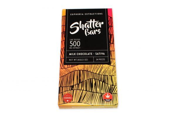 500mg Sativa THC Milk Chocolate Shatter Bars - THC Edibles Toronto 2