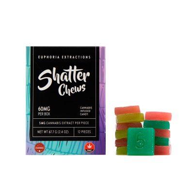 60mg-THC-Gummies-Indica-Gummies-Shatter-Chews-Euphoria-Extractions-1