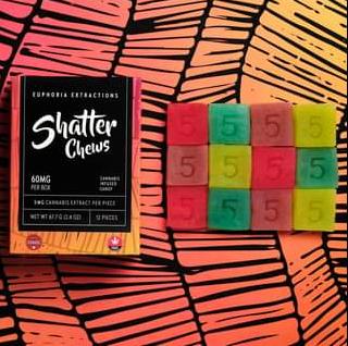 60mg-THC-Gummies-Sativa-Gummies-Shatter-Chews-Euphoria-Extractions-1