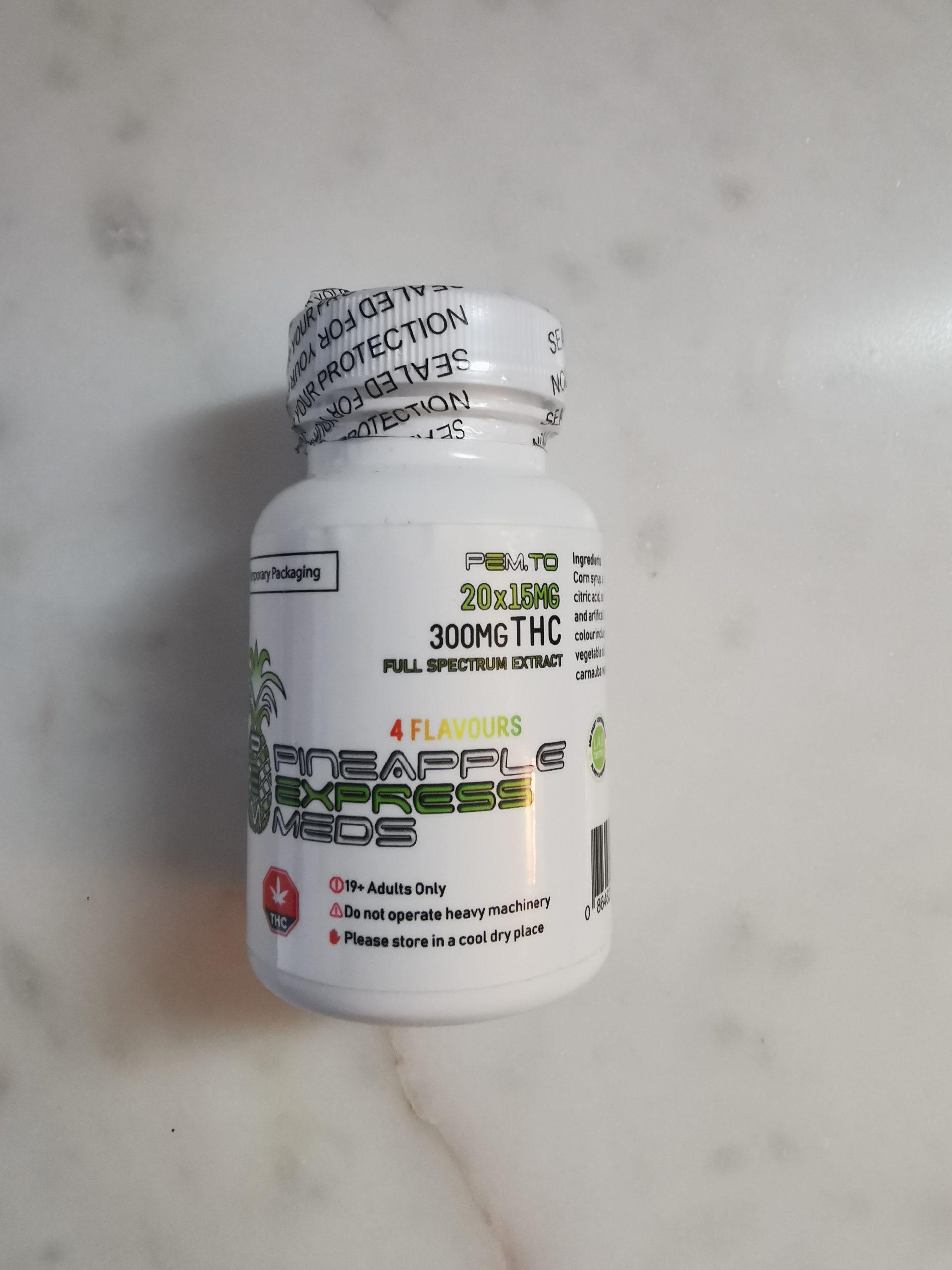 THC Gummies 300mg Pineapple Express Meds - Gummies (300mg THC) - Bottle 2